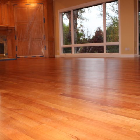 Refinishing of American Cherry flooring